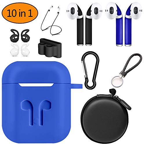 AirPods 10 in 1 Case Cover Protection Accessories for Apple AirPods (Blue)