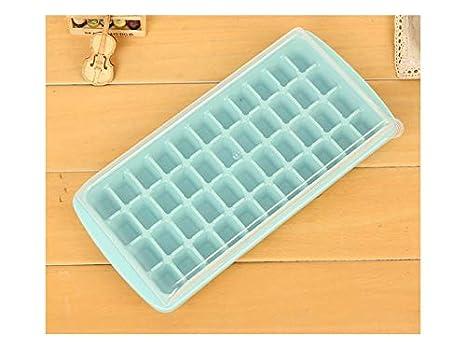 Herramienta de decoración 44 Rejilla con Tapa Moldes de Cubitos de Hielo Plástico Ice Pop Maker