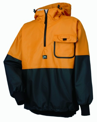 Mens Anorak (Helly Hansen Workwear Roan Fishing Guide Anorak Jacket, Ochre/Charcoal, L)