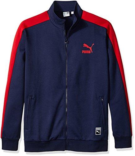 PUMA Men's T7 Track Jacket, Peacoat, Large
