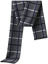 Cold Weather Scarves Thick Cashmere Scarf For Men Warm Soft Wool Scarf For Winter Autumn