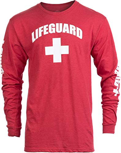 Lifeguard | Red Guard Unisex Uniform Costume Long Sleeve T-Shirt for Men Women - Red, L]()