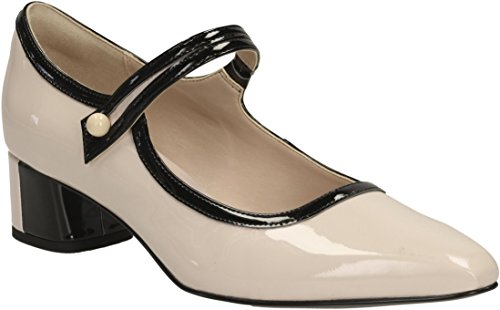7446 - CLARKS 26117343-NUDE PINK 4,5cm Zapato tacón piel perfiles - rosa nude