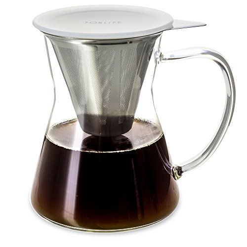 FORLIFE Lucidity Stainless Dripper 12 Ounce product image