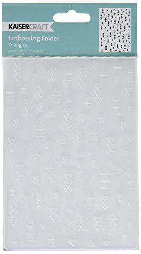Kaisercraft triángulos Embossing carpeta, 4por 15,2cm