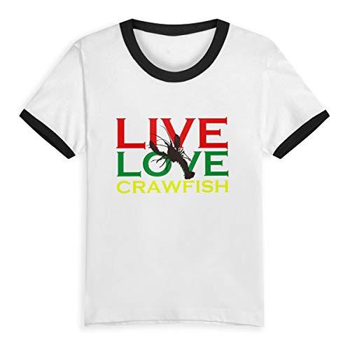 Live Love Crawfish Reggae Toddlers Crew Neck Short Sleeve Tee ()