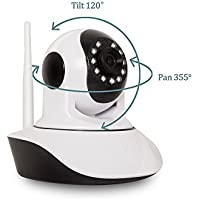 InCliick V5 Wireless Security Camera System With WiFi IP Camera, HD 720P, Two Way Audio, Motion Detection, Alarm, Record, Night Vision, Pan Tilt, APP for iOS Android, Temperature and Hum Sensor