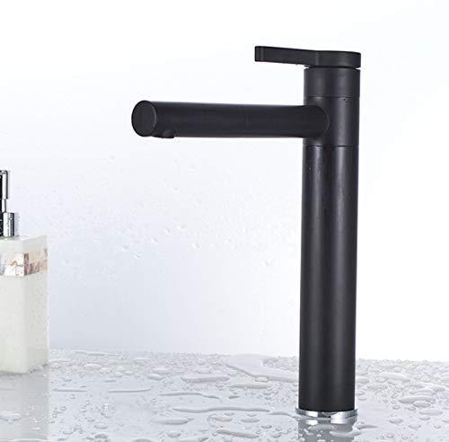 JingJingnet 新しい洗面器ミキサー360度回転タイプ洗面器蛇口黒と銀クローム浴室備品のみ1つハンドバス (Color : C) B07RVHK52S C