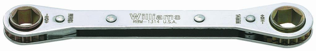 Williams RBM-1314 Double Head Ratcheting Box Wrench 13 by 14 Millimeter