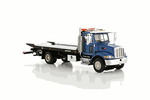 Jerr-Dan Steel Shark Rollback 5 Ton Carrier on Peterbilt 335 Chassis – Blue in 1:50 scale by TWH