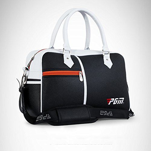 PGM PU Golf Duffle Bag Golf Clothing Bag,Boston Bag---with Seperate Shoes Store bag (black) by PGM (Image #2)
