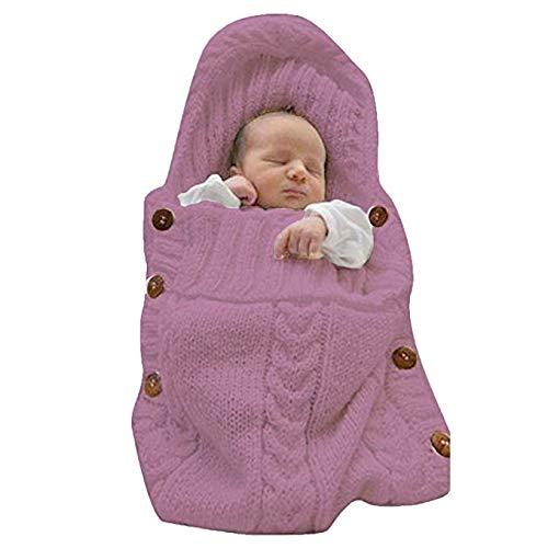 MIOIM Newborn Baby Wrap Swaddle Blanket Knit Sleeping Bag Sleep Sack Stroller Wrap for 0-8 Months