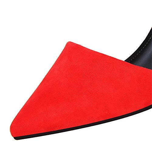 Moda Sexy 34 Moquite Sandali dimensione 40 Nuovo Col Donna Eu Tacchi Tacco Rosso Femminile Alti Ed A Scarpe Estate Con Tacco 2019 primavera 7cm 4qtwAtI