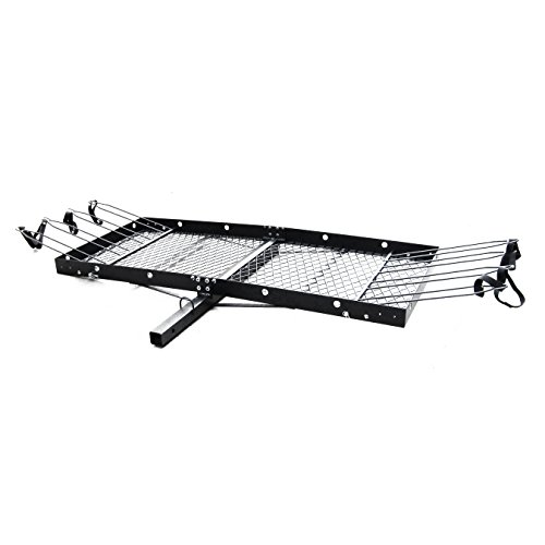Tow Tuff TTF-2762KR Steel Cargo Carrier with Bike Rack by Tow Tuff