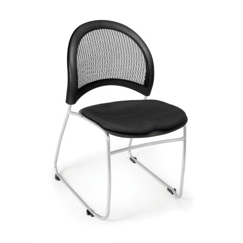 OFM 335-2224 Moon Stack Chair, Black (Ofm Dolly)