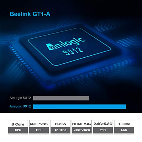 Beelink GT1 Mini A TV Box 4GB RAM 32GB ROM with S905X2 Quad-core ARM Cortex-A53 HDMI 2.0 4K Output Streaming Media Players with 2.4G Wireless Voice Remote Control