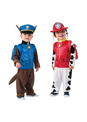 Paw Patrol Marshall And Chase Boys Costume Combo (Small (4-6)) -