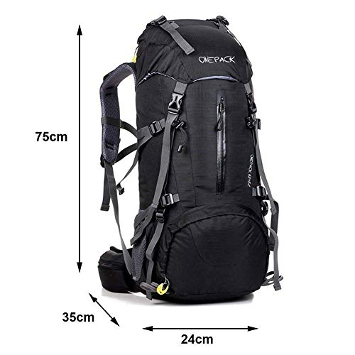 a9aba1b53c ONEPACK 70L Internal Frame Hiking Backpack with Rainfly (65+5L) Backpacking  Bag with
