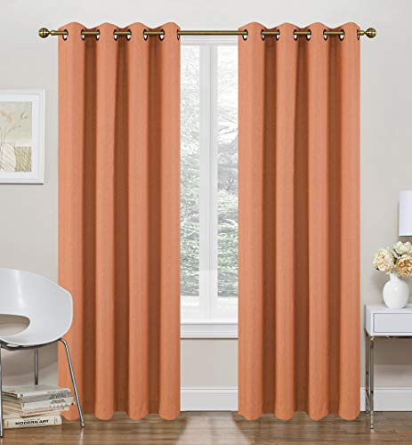Ruthy's Textile Spice Thermal Lined Curtains - 2 x 52