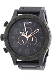 Nixon 51-30 Black Dial Stainless Steel Chrono Quartz Male Watch A083-1530