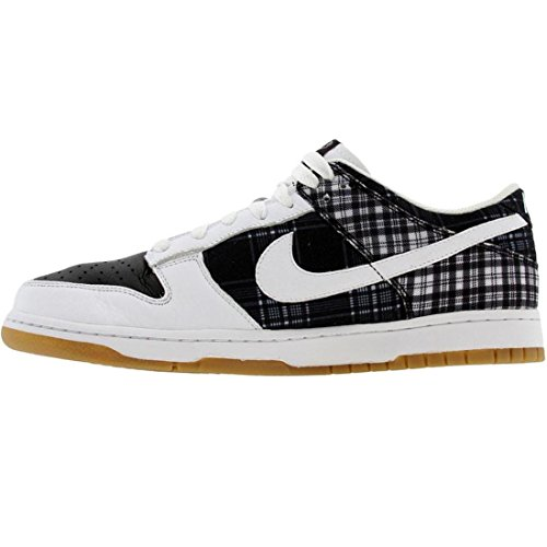 Nike Wmns Dunk Lav Hvit Sort Gummi 308608-101 Oss Sz 11,5