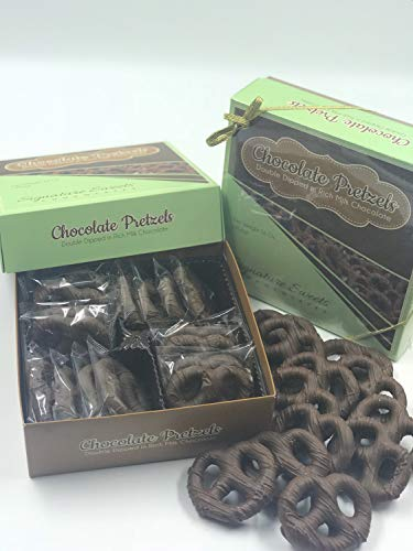 Milk Chocolate Covered Pretzels, Double Dipped Gourmet pretzel, Bulk quantity gift, Ideal Gift for Christmas & Birthday, Decadent, Smooth and Original