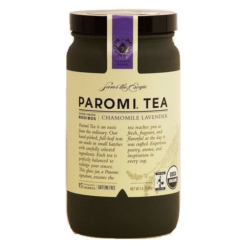 Paromi chamomile lavender super grade rooibos tea, caffeine free, 15-sachets