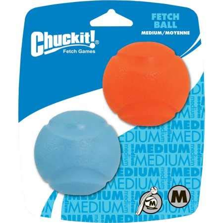 Chuckit! Fetch Ball Dog Toy, 6 cm, Medium, 2-Piece