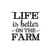 LIFE IS BETTER ON THE FARM Novelty Aluminum Metal Sign 8X12 Inches