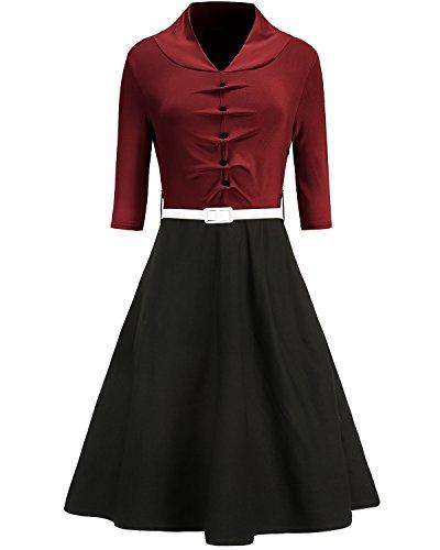 40s a line dress - 5