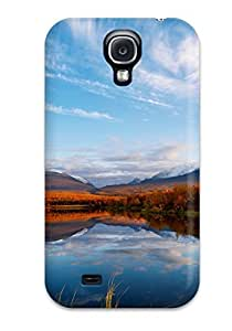 Durable Case For The Galaxy S4- Eco-friendly Retail Packaging(clouds Autumn Reflection)