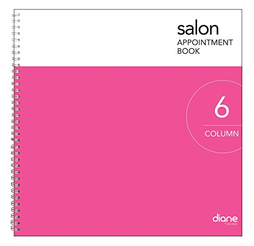 Diane 6-Column Salon Appointment Book (DEO004) 6 Column Appointment Book