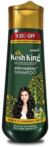 Emami Kesh King Scalp And Hair Medicine 200ml Anti- Hair Fall Shampoo Aloe & 21 Ayurvedic Herbs UP TO 80% Less Hair Fall Silky, Shiny, Smooth Hair Ayurvedic Hair Fall Expert