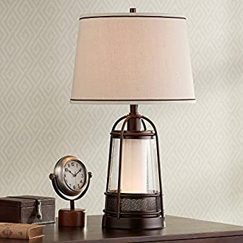 Otto Industrial Farmhouse Table Lamp With Usb Charging