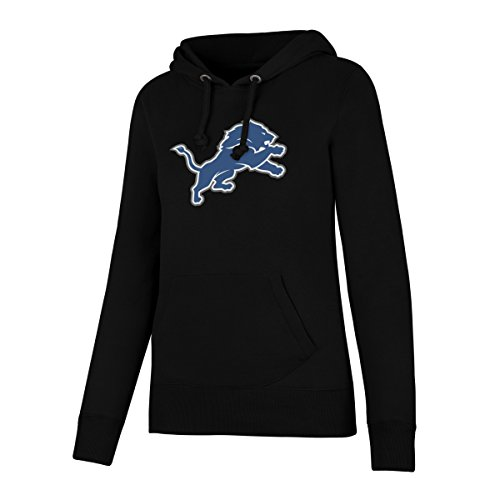 NFL Detroit Lions Women's OTS Fleece Hoodie, Jet Black, X-Large