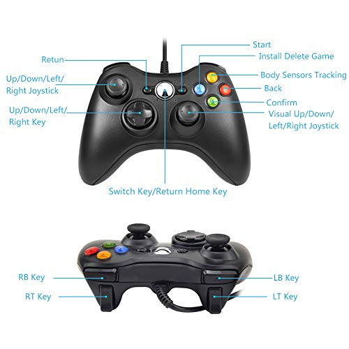 Xbox 360 Controller - RegeMoudal Xbox 360 PC Game Wired Controller