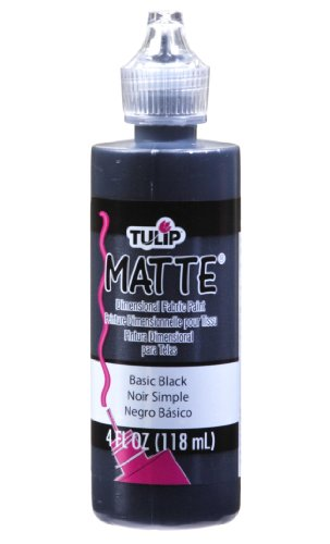 Tulip Matte - Tulip Dimensional Fabric Paint 4oz Matte Basic Black