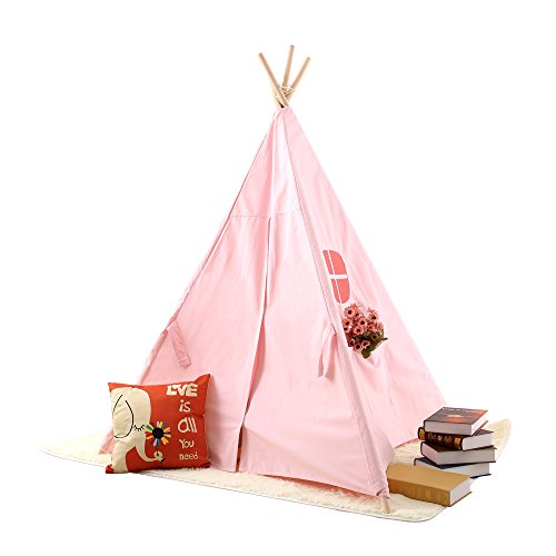 Pericross Kids Teepee Tent Play Tent  Outdoor Indoor Pink