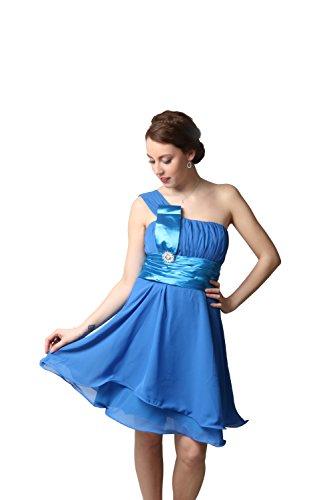 ROBLORA-Vestido de noche de Cóctel formal del vestido de boda de dama de honor corto11890ES azul cobalto
