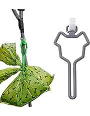 Dog Poop Bag Holder,Hands Free Waste Bag Carrier Poop Bag Holder for Leash,Adjustable Waste Bag Holder Fit Any Leash