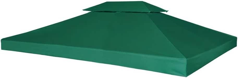 mewmewcat Cubierta de Repuesto de cenador 310 g/m² Verde 3x4 m ...