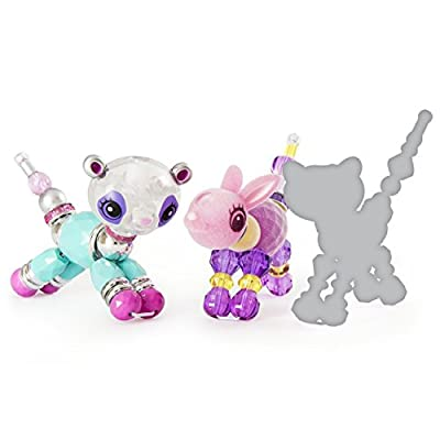 Twisty Petz – 3-Pack - Glitzy Panda, Fluffles Bunny and Surprise Collectible Bracelet Set for Kids: Toys & Games