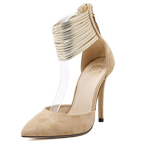 Ronald Turner pumps shoes women low heel pointed toe Women Shoes Thin High Heels Tow Zipper Summer Party Pumps Shoes women - Meaning Spanish In Dolce