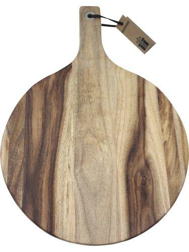 Fackelmann 681653Tabla de Cortar Redonda Acacia, Madera, marrón, 40x 28x 1,8cm FACBX