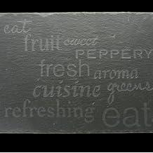Gisela Graham Engraved Single Slate Placemat Serving Platter