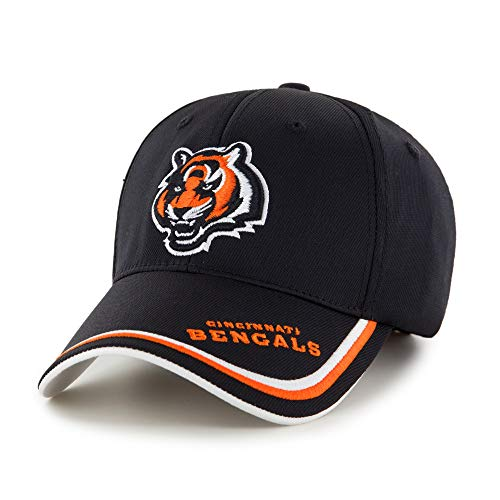 Black NFL Cincinnati Bengals Cap/ Hat Sports Theme Football Hat Embroidered Team Logo Athletic Games Baseball Cap For Boys Kids Unisex Fan Gift Stylish Adjustable Strap Closure Quality Tactel Fabric