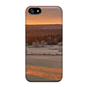 Iphone 5/5s IFdOSax7732FWJvW Golden Winter Sunshine Tpu Silicone Gel Case Cover. Fits Iphone 5/5s