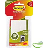 Command Large Picture Hanging Strips, White, 6 Sets of Strips