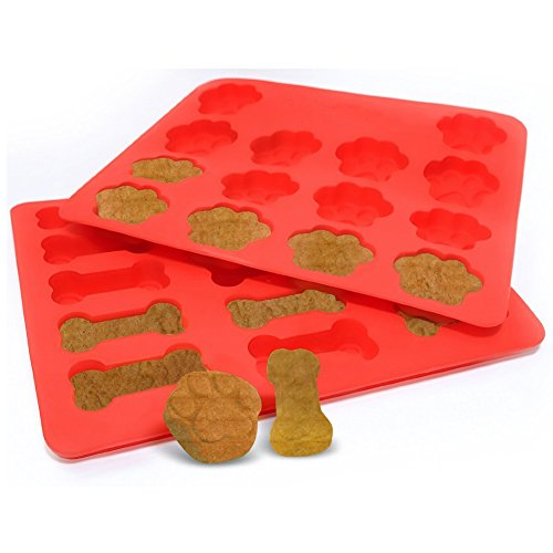 Ticent Dog Paws & Bones Cake Pan, Food Grade Silicone Dog Treats Baking Molds for Kids, Pets, Dog-lovers Cookie Cutter, 12 by 10 inch by Ticent (Image #3)