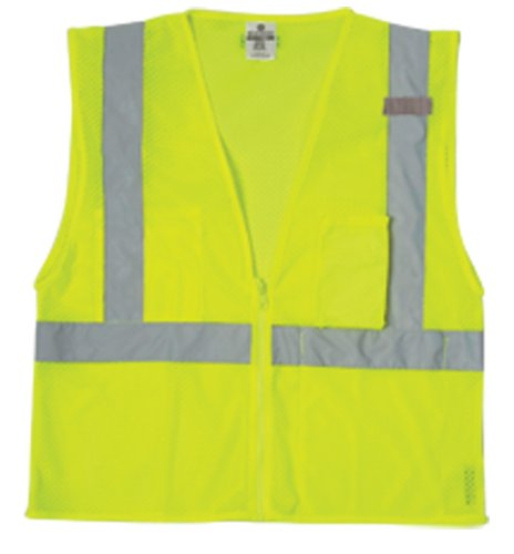 ML Kishigo 1085 Ultra-Cool Polyester Mesh 3 Pocket Vest, 2X-Large, Lime